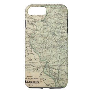 Coque iPhone 7 Plus Carte officielle de chemin de fer de l'Illinois