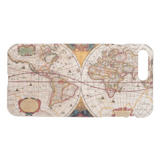 Coque iPhone 7 Plus Carte vintage du monde Circa 1600