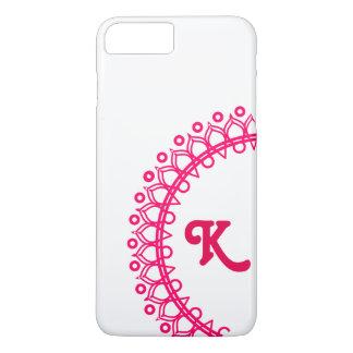 Coque iPhone 7 Plus Cas de Scrollwork de monogramme