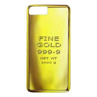 Coque iPhone 7 Plus Cas de téléphone de barre d'or