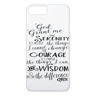 Coque iPhone 7 Plus Cas de téléphone de foi de prière de sérénité