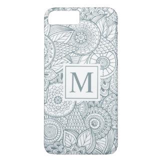 Coque iPhone 7 Plus Cas floral abstrait élégant de téléphone du