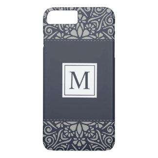 Coque iPhone 7 Plus Cas floral élégant de téléphone du monogramme | de