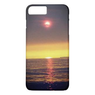 Coque iPhone 7 Plus Cas flou de téléphone de coucher du soleil