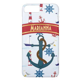 Coque iPhone 7 Plus Cas nautique fait sur commande de téléphone