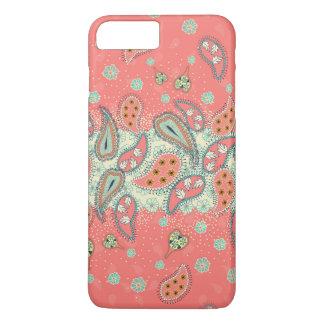 Coque iPhone 7 Plus Cas plus de l'iPhone 7 Girly de motif de Paisley