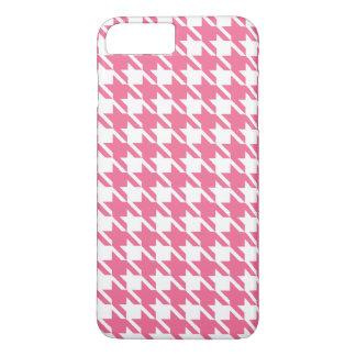 Coque iPhone 7 Plus Cas plus de l'iPhone 7 roses de pied-de-poule