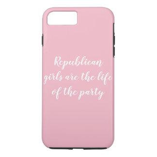 Coque iPhone 7 Plus Cas républicain de téléphone de filles