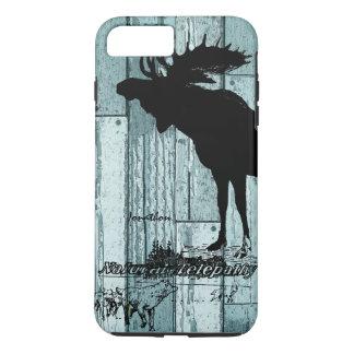 Coque iPhone 7 Plus Cas vintage de l'iphone 5 de faune d'orignaux et