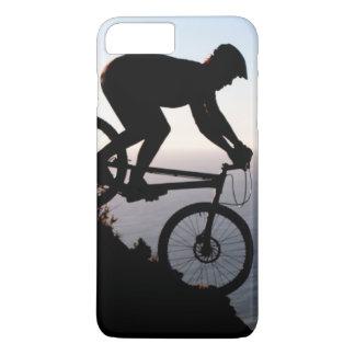 Coque iPhone 7 Plus Cavalier de vélo de montagne. Tête de lions, Cape