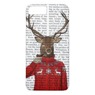 Coque iPhone 7 Plus Cerfs communs dans le chandail 2 de ski
