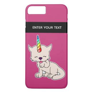 Coque iPhone 7 Plus Chat magique = Kittycorn de licorne