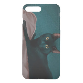 Coque iPhone 7 Plus Chat noir