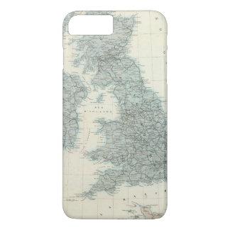 Coque iPhone 7 Plus Chemin de fer et canaux des îles britanniques