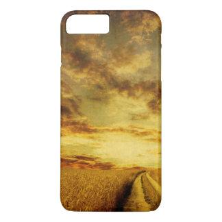 Coque iPhone 7 Plus Chemin de terre rural par le champ