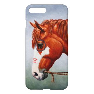 Coque iPhone 7 Plus Cheval de guerre de Pinto de châtaigne de Natif