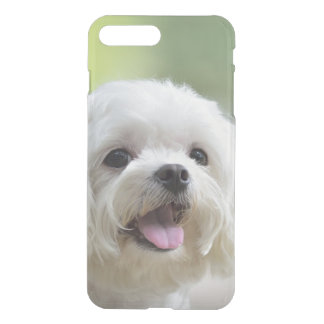 Coque iPhone 7 Plus Chien maltais blanc collant la langue