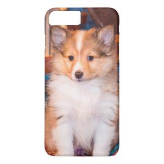 Coque iPhone 7 Plus Chiot de chien de berger de Shetland se reposant