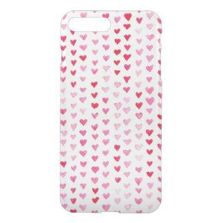 Coque iPhone 7 Plus Coeurs d'aquarelle