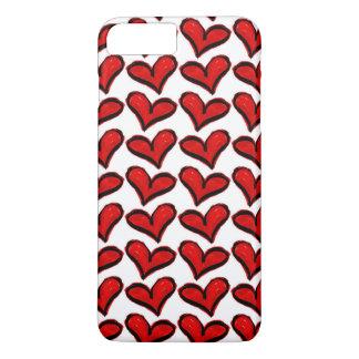 Coque iPhone 7 Plus Coeurs lunatiques de vacances