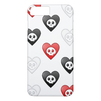 Coque iPhone 7 Plus Coeurs morts 3