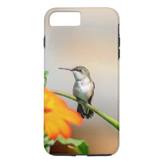 Coque iPhone 7 Plus Colibri sur un plante fleurissant