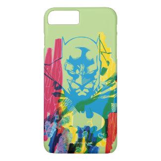 Coque iPhone 7 Plus Collage au néon de marqueur de Batman