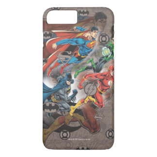 Coque iPhone 7 Plus Collage de ligue de justice