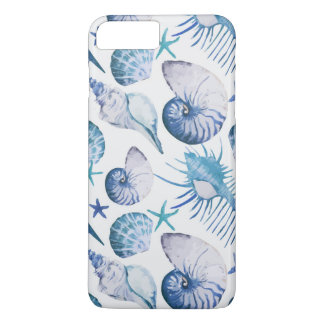 Coque iPhone 7 Plus Coquilles d'aquarelle