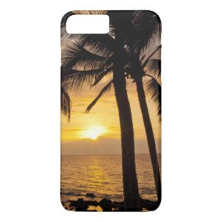 Coque iPhone 7 Plus Coucher du soleil de palmier