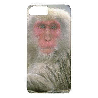 Coque iPhone 7 Plus Couples de singe de neige, Macaque japonais,