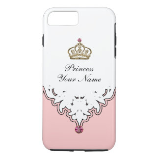 Coque iPhone 7 Plus Couronne de la Reine de monogramme