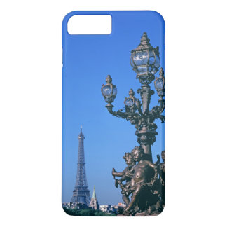 Coque iPhone 7 Plus Courrier de lampe sur le pont de Pont Alexandre