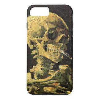 Coque iPhone 7 Plus Crâne de Van Gogh avec la cigarette brûlante, art