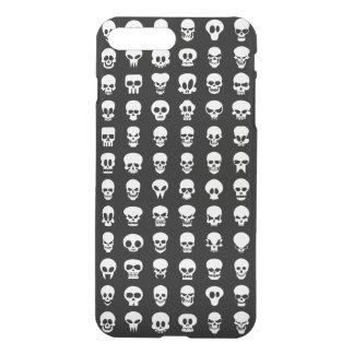 Coque iPhone 7 Plus Crânes sur l'arrière - plan noir
