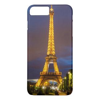 Coque iPhone 7 Plus Crépuscule au-dessous de Tour Eiffel