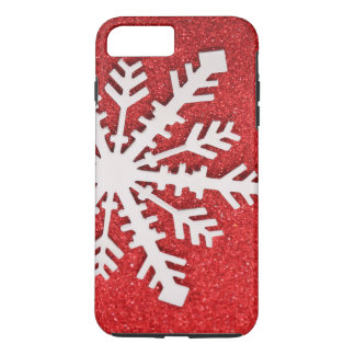 Coque iPhone 7 Plus De scintillement de Noël d'étincelles flocon de