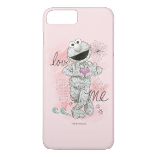 Coque iPhone 7 Plus Dessin de croquis d'Elmo B&W