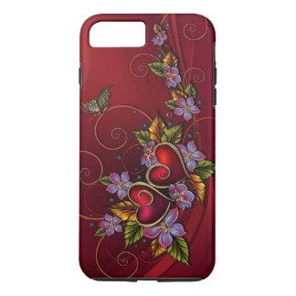 Coque iPhone 7 Plus Deux coeurs