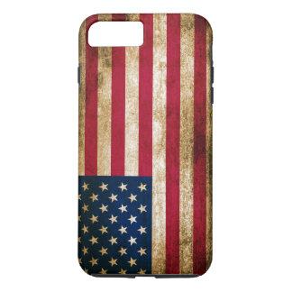 Coque iPhone 7 Plus Drapeau americana vintage