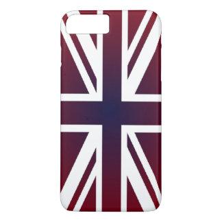 Coque iPhone 7 Plus Drapeau d'Union Jack du Royaume-Uni