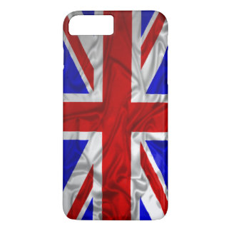 Coque iPhone 7 Plus Drapeau froissé d'Union Jack
