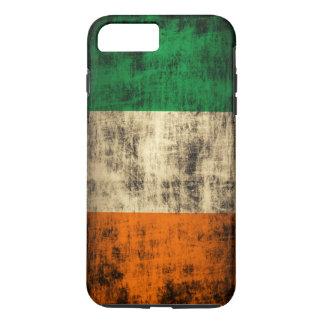 Coque iPhone 7 Plus Drapeau irlandais grunge vintage