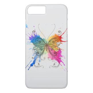 Coque iPhone 7 Plus Éclaboussure de couleur de papillon