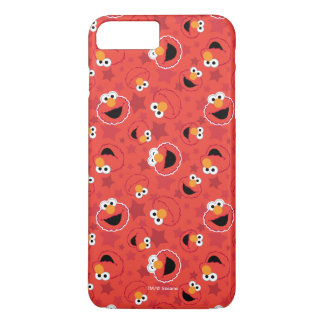 Coque iPhone 7 Plus Elmo rouge fait face au motif
