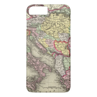 Coque iPhone 7 Plus Empire autrichien, Italie, Turquie en Europe,