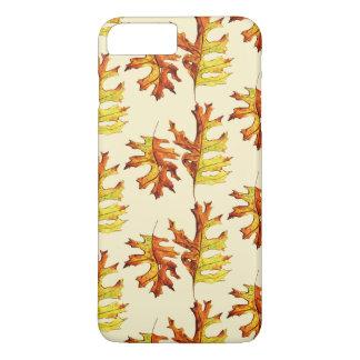 Coque iPhone 7 Plus Encre et feuille d'automne de danse peint par