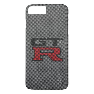 Coque iPhone 7 Plus Fibre Nissan GT-R de carbone