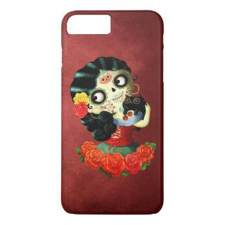 Coque iPhone 7 Plus Fille de Catrina de Mexicain de Dia de Los Muertos