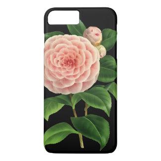 Coque iPhone 7 Plus Fleur vintage de camélia botanique